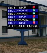 Panneau d'information industriel - Aide précieuse à la logistique