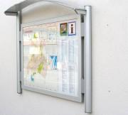 Panneau d'information mural extérieur - Fixation murale