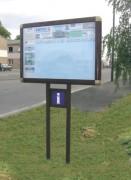 Panneau d'informations extérieur 1200 x 800 - Suface visible - 1200 x 800