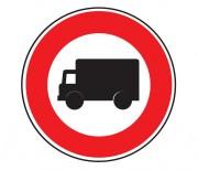 Panneau d'interdiction aux véhicules affectés au transport de marchandises B8 - Dimensions : de 450 à 1250 mm - Norme CE et NF - Type B