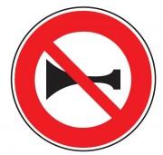 Panneau d'interdiction de signaux sonores B16 - Dimensions : de 450 à 1250 mm - Norme CE et NF - Type B