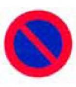 Panneau d'interdiction de stationner Alu