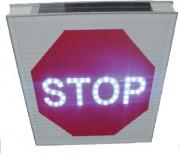 Panneau d'intersection STOP AB4 lumineux - Matériaux aluminium, haut pouvoir réfléchissant