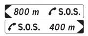 Panneaux de jalonnement vers un poste d'appel d'urgence DP1 - Dimension (mm) : 600 x 120