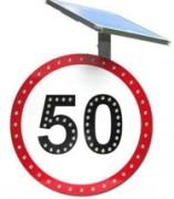 Panneau de limitation 50 clignotante - Fréquence de 60 clignotements par minute