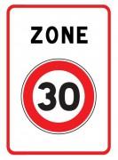 Panneau de prescription zonale - Dimensions (mm) : 500 x 650 - Norme CE et NF - Type B