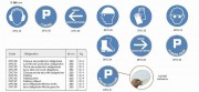 Panneau de protection rond adhésif - En PVC