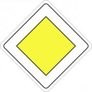 Panneau de route prioritaire AB6 - Dimensions de 350 à 900 mm - Norme CE et NF - Type AB