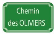 Panneau de rue en aluminium - Dimensions (mm) : 450 x 250 - 500 x 300