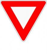 Panneau de signalisation d'intersection et de priorité AB3 - Dimensions (mm) : de 500 à 1250  - Norme CE et NF - Type AB