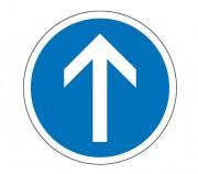 Panneau de signalisation d'obligation de direction B21b - Dimensions : de 450 à 1250 mm - Norme CE et NF - Type B