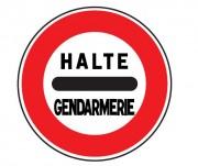 Panneau de signalisation d'un barrage de gendarmerie B5a - Dimensions : de 450 à 1250 mm - Norme CE et NF - Type B