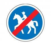 Panneau de signalisation d'un chemin pour cavaliers obligatoire B42