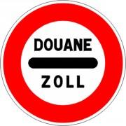 Panneau de signalisation d'un poste de douane B4