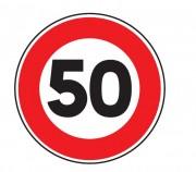 Panneau de signalisation d'une limitation de vitesse B14 - Dimensions : de 450 à 1250 mm - Norme CE et NF - Type B