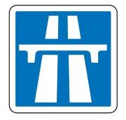 Panneau de signalisation d'une section de route à statut autoroutier C207 - Dimensions (mm) : de 900 à 1200 - Norme CE et NF - Type C