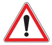 Panneau de signalisation de danger A14 - Dimensions : de 500 à 1500 mm - Norme CE et NF - Type A
