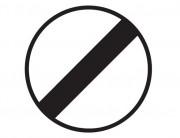 Panneau de signalisation de fin d'interdiction B31 - Dimensions : de 450 à 1250 mm - Norme CE et NF - Type B
