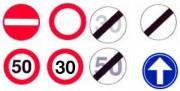 Panneau de signalisation rond - Possibilité d'avoir tous les types de panneaux sur demande