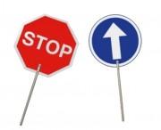 Panneau de signalisation routière - Usage : extérieur  - Condition de vente : lot de 3