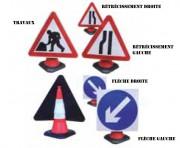 Panneau de signalisation travaux - Facile à fixer sur cônes de 75 ou 100 cm