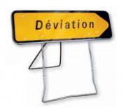 Panneau de déviation avec direction sur support mobile KD21