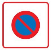 Panneau entrée d'une zone de stationnement interdit B6b1