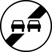 Panneau fin d'interdiction de dépasser B34 - Dimensions : de 450 à 1250 mm - Norme CE et NF - Type B
