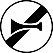 Panneau fin interdiction de klaxonner B35 - Dimensions : de 450 à 1250 mm - Norme CE et NF - Type B