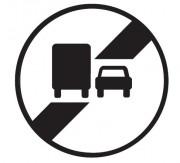 Panneau fin interdiction dépasser poids lourds B34a - Dimensions : de 450 à 1250 mm - Norme CE et NF - Type B