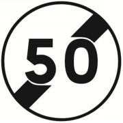 Panneau fin limitation de vitesse B33 - Dimensions : de 450 à 1250 mm - Norme CE et NF - Type B