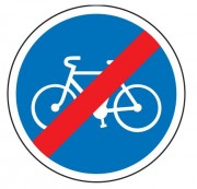 Panneau fin obligation bande ou piste cyclable B40