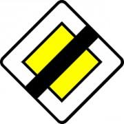 Panneau de fin de route prioritaire en aluminium AB 7