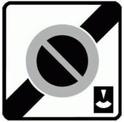 Panneau fin zone stationnement durée limitée B50c - Dimensions (mm) : 500 - 700 - Norme CE et NF - Type B
