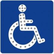 Panneau handicapé lumineux - Panneau priorité personne à mobilité réduite
