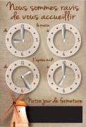 Panneau horaire pour boulangerie pâtisserie - Vendu à l'unité - 15 x 22 cm -