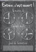 Panneau horaire pour magasin - Vendu à l'unité -Dimensions (cm): 24 x 16