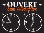 Panneau horaires d'ouverture - Vendu à l'unité - 15 x 10 cm - 2 cadrans