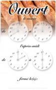 Panneau horaires d'ouverture magasin - Dimensions (cm) : 15 x 24