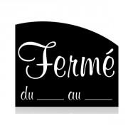 Panneau horaires de magasins - Vendu à l'unité - 15 x 12 cm - blanc sur noir