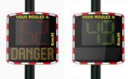 Panneau indicateur de vitesse