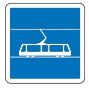 Panneau indication arrêt tramway C7 - Dimensions (mm) : de 350 à 1050 - Norme CE et NF - Type C