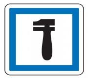Panneau indication atelier entretien véhicules CE28 - Dimensions (mm) : de 350 à 1050 - Norme CE et NF - Type CE