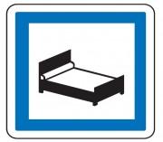 Panneau indication hôtel CE17 - Dimensions (mm) : de 350 à 1050 - Norme CE et NF - Type CE
