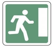 Panneau indication issue de secours droite CE30a - Dimensions (mm) : de 350 à 1050 - Norme CE et NF - Type CE