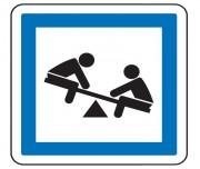 Panneau indication jeux d'enfants CE23 - Dimensions (mm) : de 350 à 1050 - Norme CE et NF - Type CE
