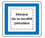 Panneau indication marque pétrolière CE15e - Dimensions (mm) : de 350 à 1050 - Norme CE et NF - Type CE