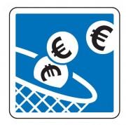Panneau indication paiement automatique C64c1 - Dimensions (mm) : de 350 à 1050 - Norme CE et NF - Type C
