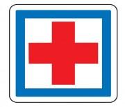 Panneau indication poste de secours CE1 - Dimensions (mm) : de 350 à 1050 - Norme CE et NF - Type CE