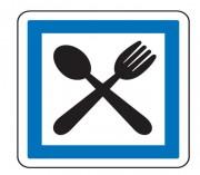 Panneau indication restaurant CE16 - Dimensions (mm) : de 350 à 1050 - Norme CE et NF - Type CE